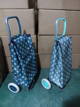 dot fabric folding fabric shopping cart with wheels
