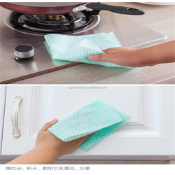Hydroentangled Spunlace woodpulp Non woven fabric disposable Kitchen Cleaning Window Cloth