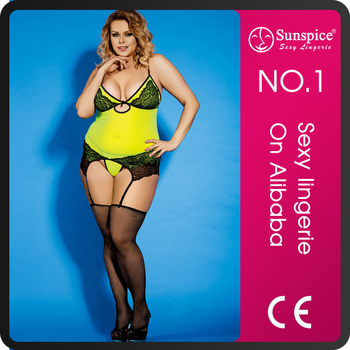 Sunspice lingerie New sexy plus size lingerie for fat mature women