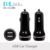 Protable Quick Charging Lightweight Design 5v 12v 2.4a dual usb car charger For mobile smart phone