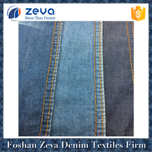 Hot sale light weight denim fabric indigo color 2/1 plain weave denim fabric