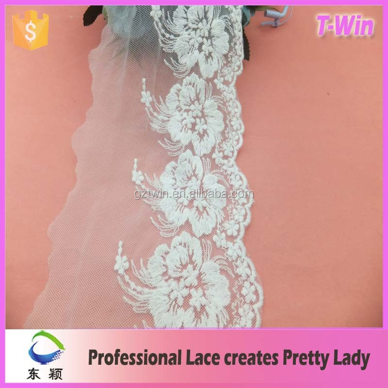 2016 Popular bridal decorative lace trim designs