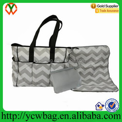 Best Quality Designer Chevron Changing Mat with Baby Diaper Bags
