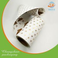Food packaging plastic film rolls black and white