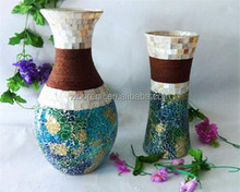 Event Decoration Discuptive Tile Mosaic Colorful Eco Friendly Elegant Tall Vases