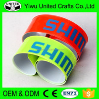 2016 promotional giveaways cheap reflective snap armband with logo