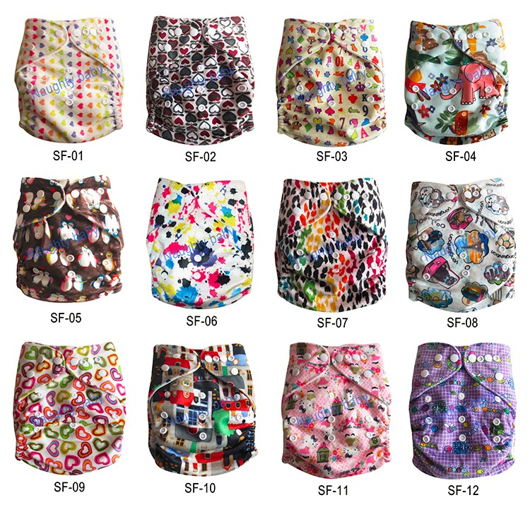 Environmental Friendly high quality cute fashion baby pocket modern cloth diaper with insert