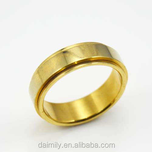 Stainless Steel Stamping Gold band Wedding Man Ring