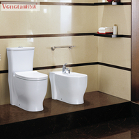 chaozhou factory bathroom one piece ceramic washdown toilet made in china