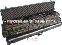 aluminum fireproof hard shell material gun display cases with safe lock and strong handle