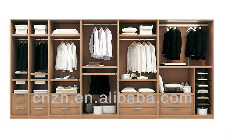 Wood Melamine Bedroom Cabinets Walk In Closet