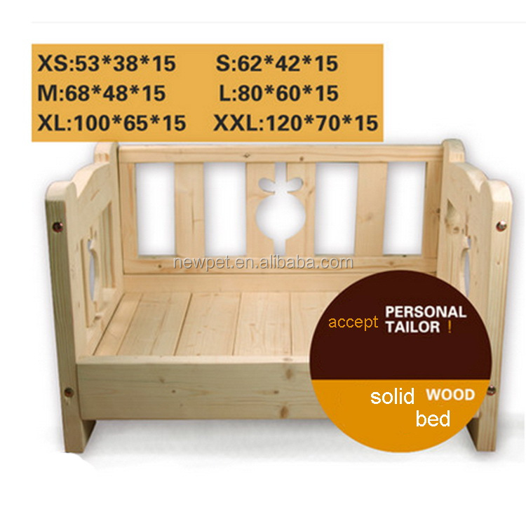 Custom wholesale latest design three sides guardrail house antique wooden boxes dog beds