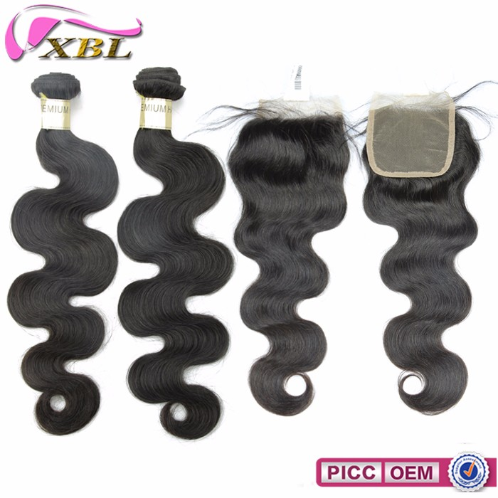Good quality tangle free machine weft natural cuticle human hair