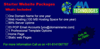 AMT Starter Website Package only at Rs. 7999/-