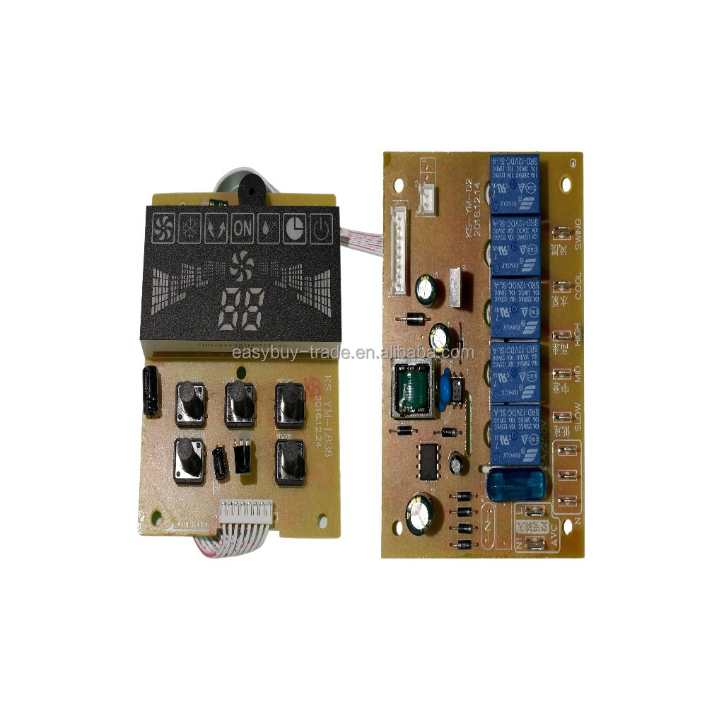 Electronic water cooler fan pcb switch with remote home using fan controller
