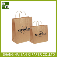 2014 Cheap recycled brown paper bags wholesale with handles