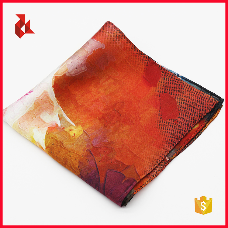 Custom Print Men's Pocket Squares Manufacturer