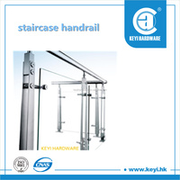 2016 HOT SALE stainless steel staircase handrail / staircase handrail design / staircase handrail at factory price