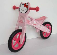 Hello kitty wooden bicycle for kids girls bicycle