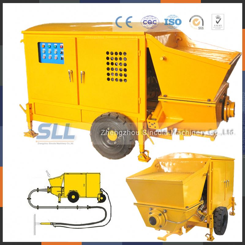 3.5 Mpa high pressure large output large aggregate Trailer stamped concrete sealer