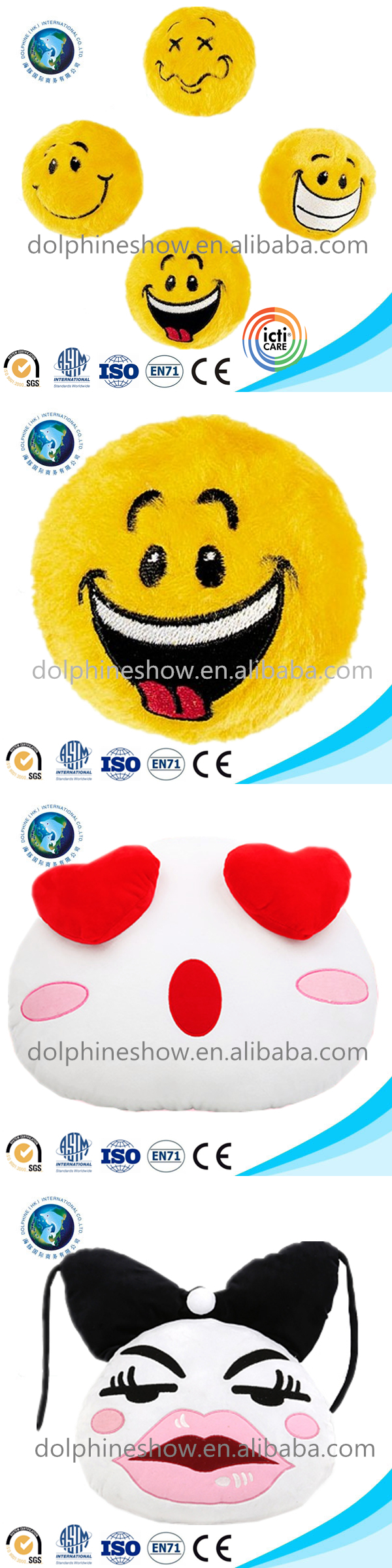 Cute heart design cheap plush emoji pillow cheap promotional stuffed soft plush emoji emoticon