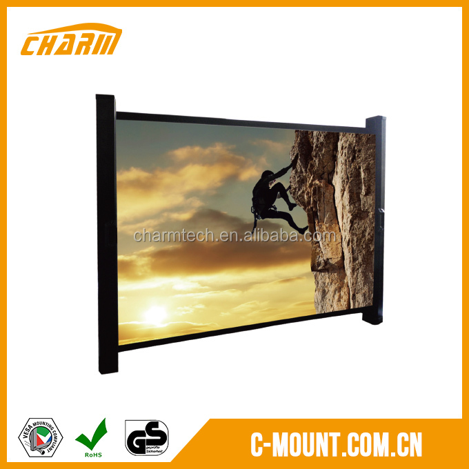 150 inch projector screen Tab-tension, wholesale fixed frame projector screen