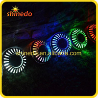 2016 Round Shape Mini Color Changing Solar Underground/Wall Light