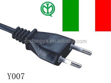 Italy IMQ approved ac power cord cable for plug adapter