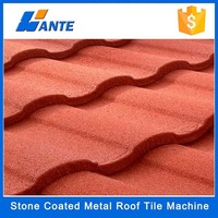 Popular 1340mmx420mm shingle stone coated metal roofing sheet