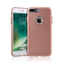 Metal Key Metallic Coated TPU Mobile Phone Cover Case For IPhone 5 6 7 8 X