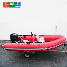 Fiberglass hull 6 person rigid inflatable pontoon boat and military boat rib 360