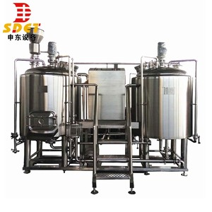SUS304 Steam Heating Two Vessels 1000L Beer Brewing Equipment