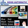 GOGO ATC Outside diameter 1/4 inch PU-1/4 200m high quality pneumatic polyurethane pu tubing tube hose pipe for air