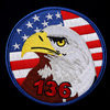 Custom Embroidered Patch,3D Embroidery Patch Eagle with American Flag Logo