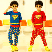C80250A Boy's spring superman style fashion suits