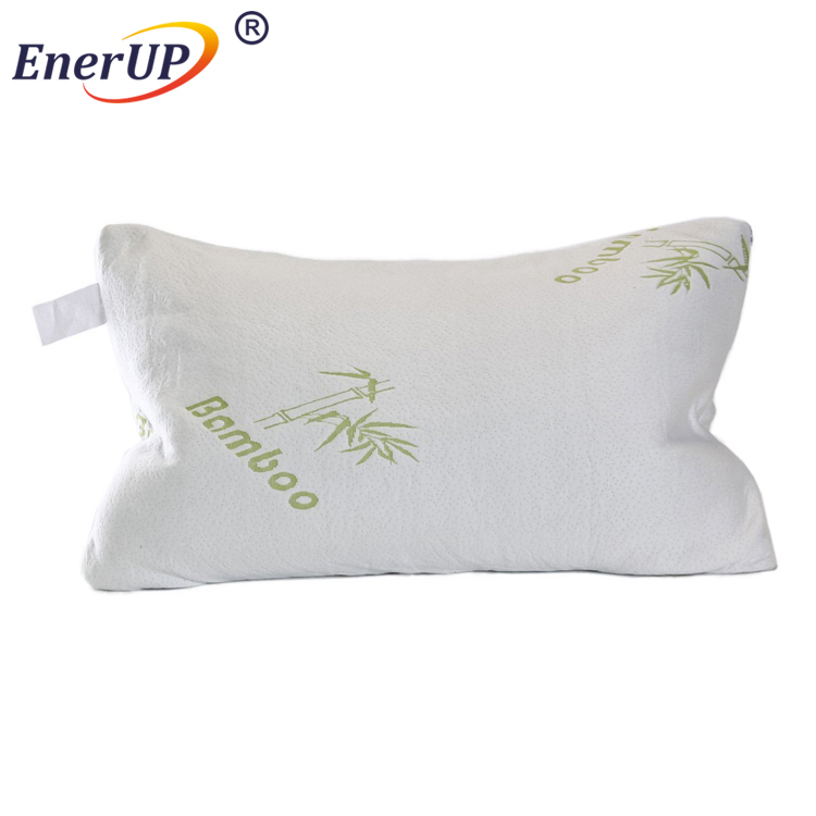 Bamboo memory foam pillow with removable zipper cover