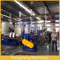 plastic recycling granulating production line pp pe film extruder