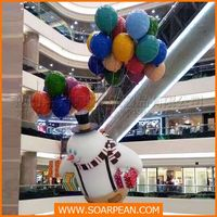 Shopping Mall/Market Fiberglass Christmas Balloon For Kids
