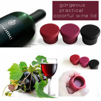 Promotion reusable non-toxic food grade silicone bottle stopper wedding gift