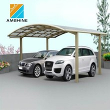 polycarbonate aluminum frame car parking shelter