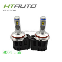 HTAUTO Motor Parts Accessories 55W 5200LM High Power Headlamp Led H4 Motorcycle Headlight Car Led Light