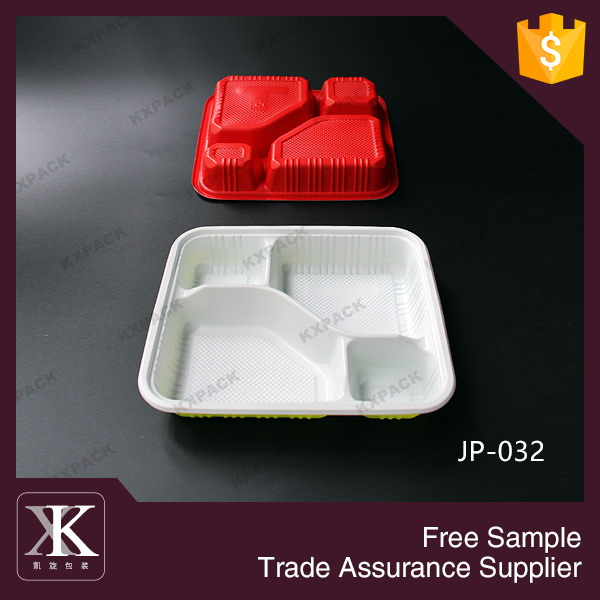JP-032# 4-compartment Bento Lunch Box,Disposable Safe Plastic Food Container