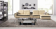 2013 new modern deisgn leather sofa with music speaker