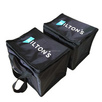 portable double handles customized 210D polyester thermal insulated freezer bag with front pocket