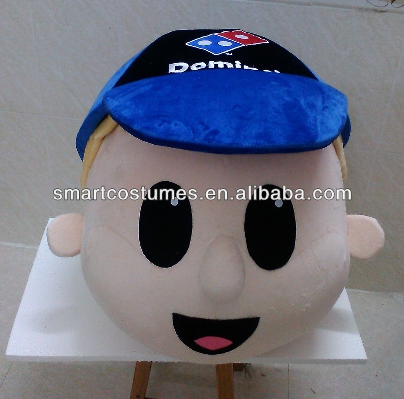 custom make mascot costumes domino's pizza head mascot