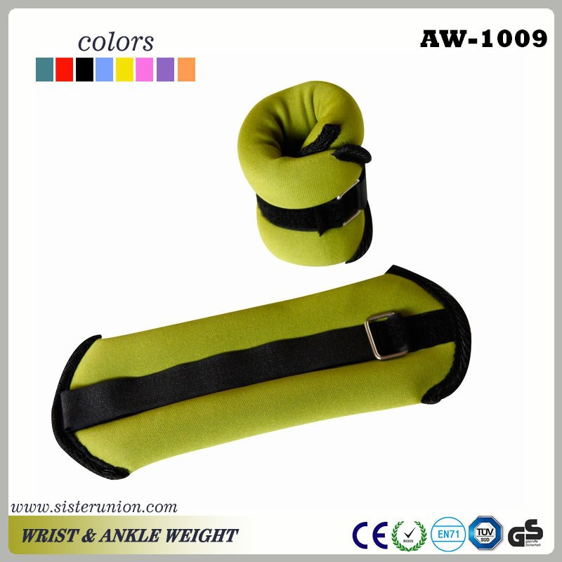 Adjustable kids ankle weights and wrist wraps weight lifting