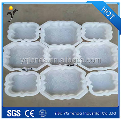 Interlocking precast plastic paving stone moulds for sale