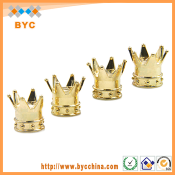BYC Brand New ABS Golden Crown Tires Cap