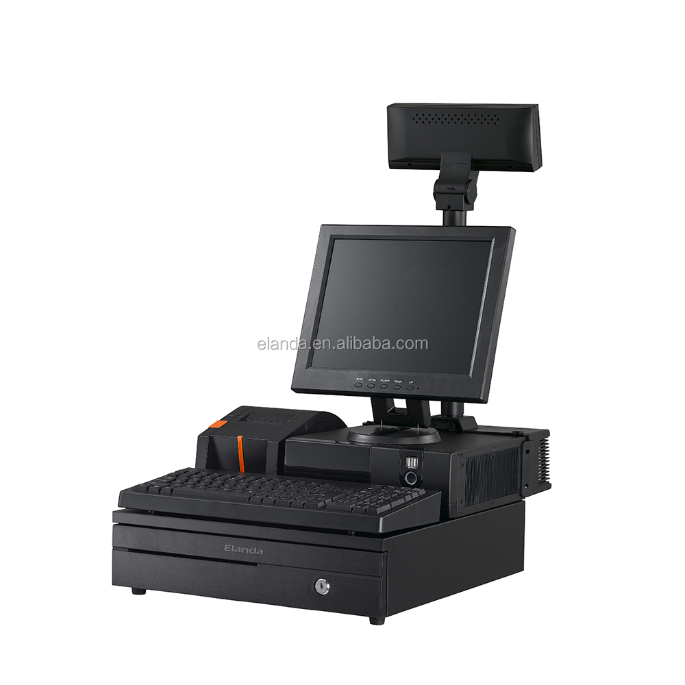 Elnada POS Manufacturer Black 15 inch Resistive Touch Screen POS Terminal