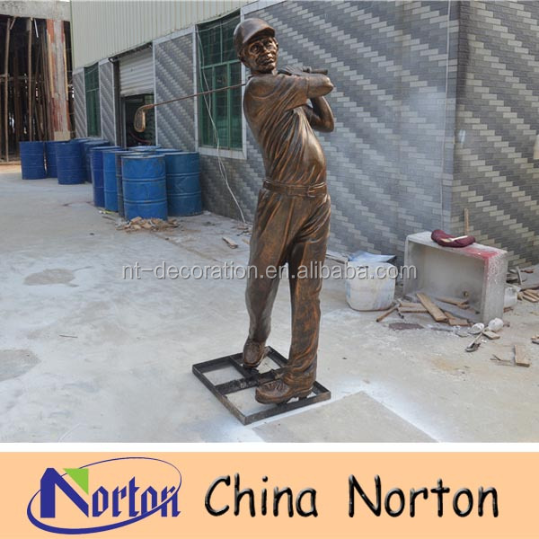 life size garden resin golf statue NTRS138S